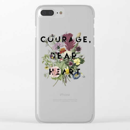 Courage Clear iPhone Case