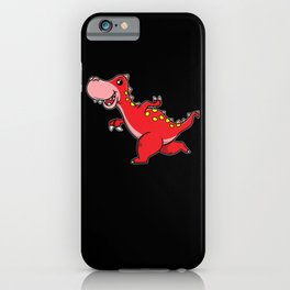 Running and smiling Dinosaur for Kids iPhone Case