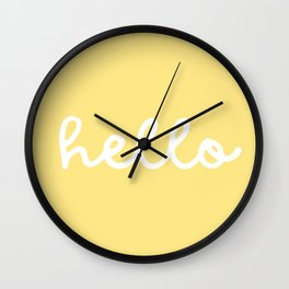 HELLO YELLOW Wall Clock