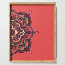 Red Mandala Serving Tray