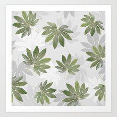 Tropical green leaves Art Print