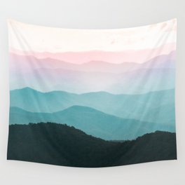 Smoky Mountain National Park Sunset Layers III - Nature Photography Wall Tapestry