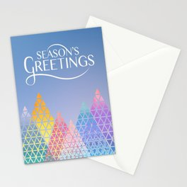Geometric Mountains Stationery Cards