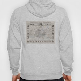 Vintage Hamburg Germany Map (1843) Hoody
