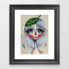 Elfling Study :: Leaf head Framed Art Print