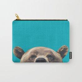 Bear - Blue Carry-All Pouch