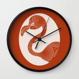 Floral Flamingo Wall Clock