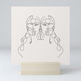 Seeing Double (Black) Mini Art Print
