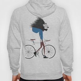 Hipster Lion and his Bicycle Hoody