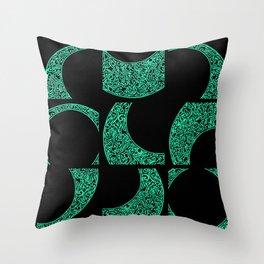 Emerald Solstice Throw Pillow