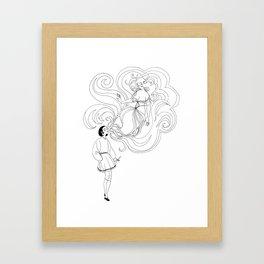 Cigarette Genie Framed Art Print