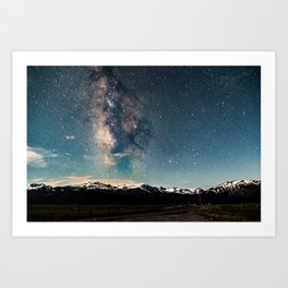 Milky Way Over Sawtooth Range Art Print