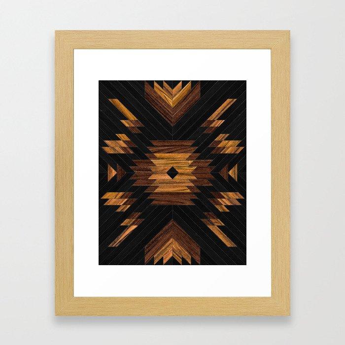 Urban Tribal Pattern No.7 - Aztec - Wood Framed Art Print