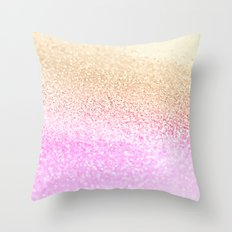 GOLD PINK GLITTER by Monika Strigel Throw Pillow