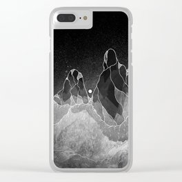 Wraith mountains Clear iPhone Case