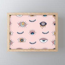 Evil eye mystical seamless pattern illustration print Wallpaper Framed Mini Art Print