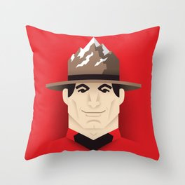 Mountie Throw Pillow