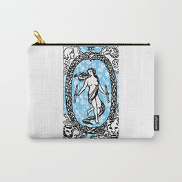 Floral Tarot - The World Carry-All Pouch