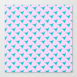 Blue and Pink Whales Canvas Print