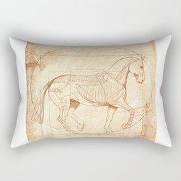 Da Vinci Horse In Piaffe Rectangular Pillow