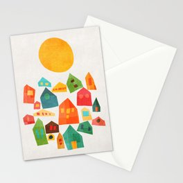 Looking at the same sun Stationery Cards