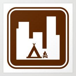 "Urban Pictograms ""Urban Camping"" Art Print"