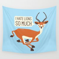 thrones Wall Tapestries featuring Prey Tell by David Olenick