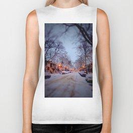 Winter scene Biker Tank