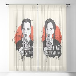 Wednesday The Addams family art Sheer Curtain