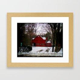 Red Barn Cir.1820 Framed Art Print