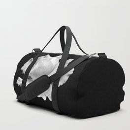 White Rose On Black Duffle Bag