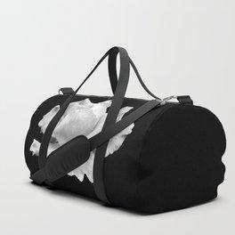 White Rose On Black Duffle Bag