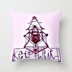 Keep it Weird Throw Pillow