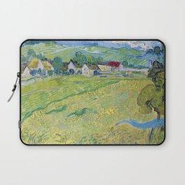 """""""Les Vessenots"""" in Auvers by Vincent van Gogh Laptop Sleeve"""