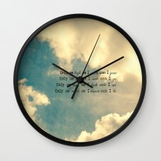 Only as much as I Wall Clock