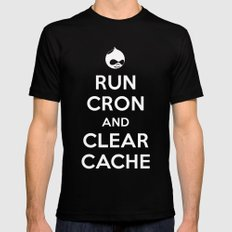 Run Cron and Clear Cache Black SMALL Mens Fitted Tee