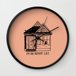 Indoor Cat (house) Wall Clock