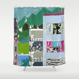 Downtown Living Shower Curtain