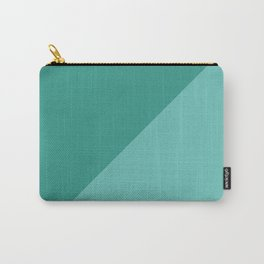 Modern geometric pastel green teal color block motif Carry-All Pouch