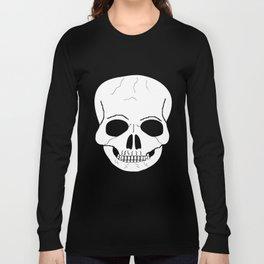Fantasy Art White Skull Long Sleeve T-shirt