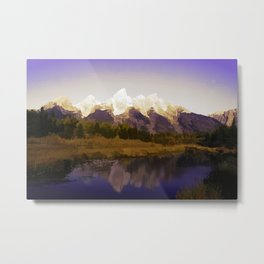 Landscape Abstraction Metal Print