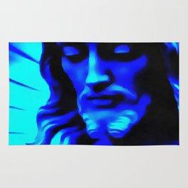 Blue Jesus Rug