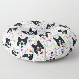 CMYK Cat Pattern Floor Pillow