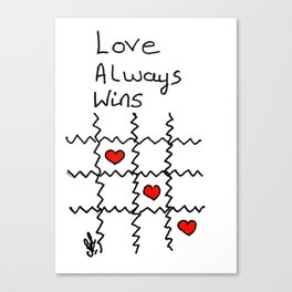 Love always wins Canvas Print