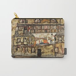 Egon Schiele - House Wall On The River Carry-All Pouch