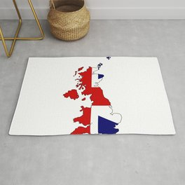 United Kingdom Map and Flag Rug
