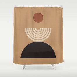 Nascita del sole - The birth of the sun - Modern abstract art Shower Curtain