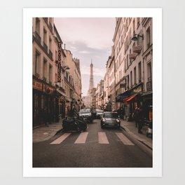 Vintage Paris, France (Color) Art Print