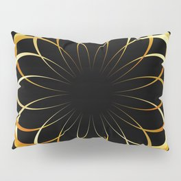 A decorative Celtic fractal flower like a mandala Pillow Sham