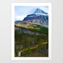 Highest Mountain in the Canadian Rockies; Mount Robson Art Print
